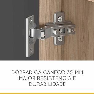 Armário de Cozinha Condessa 1 Portas 200 cm - Cedro/Grafite - Nesher