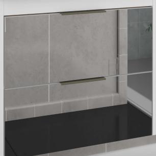 Gabinete De Banheiro 100% Mdf Bromelia 59 Cm Frente Espelho Branco - Mgm