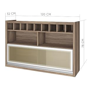 Armario de cozinha 1 porta nicho adega Nesher Baronesa 120 cm  - Branco - Nesher