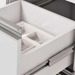Balcao De Cozinha 100% Mdf Ibiza Para Pia 154 Cm Branco/Café - Mgm