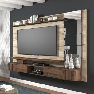 Painel Para TV Murano 100% MDF  Rustico/Cafe - Permobili