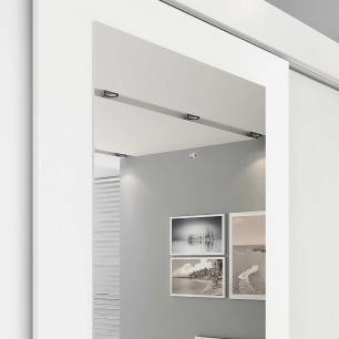 Roupeiro Luiza 3 Portas Slide - 100% MDF - Com Espelho - Branco - Panan