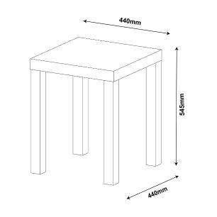Mesa Apoio Up - Rustico - Artely