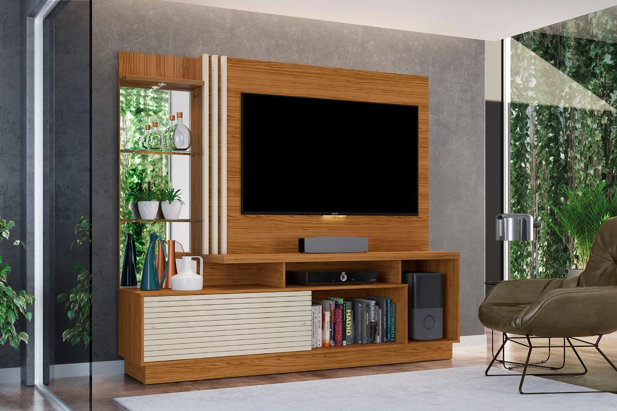 Home Theater Frizz Plus - Naturale/Off White - Madetec