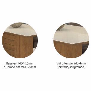 Sala Jantar Rafaela 130cm x 80cm 4 Cad. Milena Savana/Off White/Sued Bege - Cimol