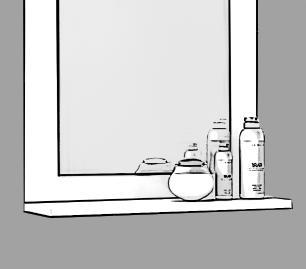 Gabinete De Banheiro 100% Mdf Iris 44 Cm Com Espelho Amendoa/Off White - Mgm
