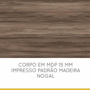 Balcão de Cozinha 1 Porta 1 Gaveta Nesher Baronesa 80 cm - Grafite - Nesher