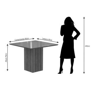Mesa Ana 95cm x 95cm - Savana/Off White - Cimol