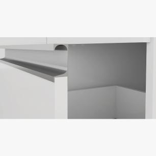 Armario De Cozinha Paneleiro 100% Mdf Prisma Branco - Mgm