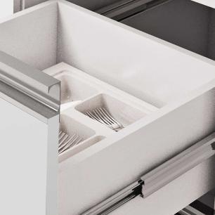 Balcao De Cozinha 100% Mdf Ibiza Para Pia 174 Cm Branco/Café - Mgm
