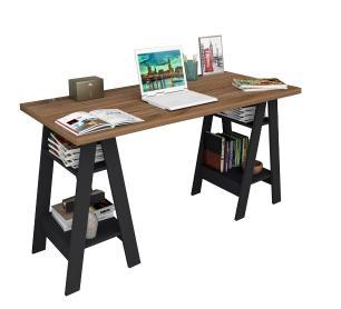 Mesa escrivaninha Self - Castanho/Preto - Appunto