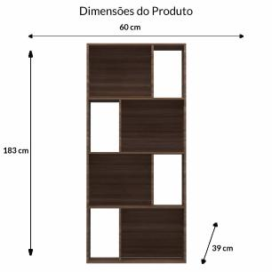 Estante Design Vertical/Horizontal - Carvalho - Primolar