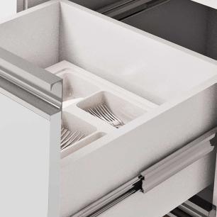 Balcao De Cozinha 100% Mdf Prisma Para Pia 154 Cm Branco/Café - Mgm