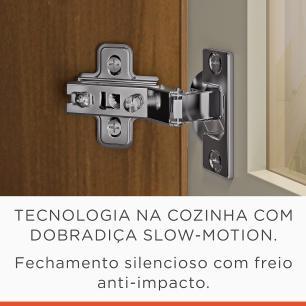 Armario de Cozinha Duquesa 1 Porta com Nicho/Prato 120 cm - Freijo/Off White - Nesher