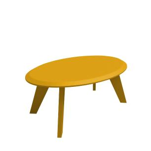 Mesa Centro Ellis - Amarelo - Artely