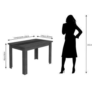 Sala Jantar Barbara 136cm x 80cm 6 Cad. Barbara Savana/Sued Marfim - Cimol