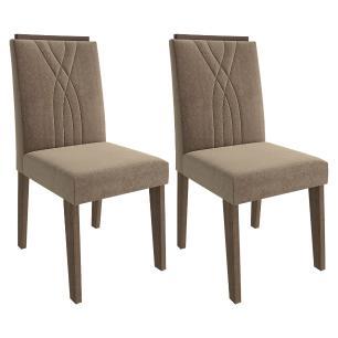 Sala Jantar Rafaela 95cm x 95cm Com 4 Cadeiras Nicole Marrocos/Preto/Pluma - Cimol