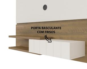 Painel Monza - Pinho/Off White - Artely