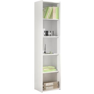 Estante Biblioteca Simples  - Branco - Movelbento