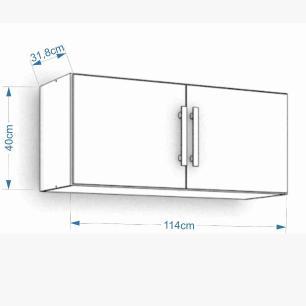 Armario De Cozinha Aereo 100% Mdf Flex 114 Cm Branco - Mgm
