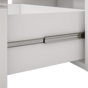 Balcao De Cozinha 100% Mdf Flex 134 Cm Branco/Preto - Mgm