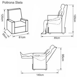Poltrona Reclinavel Stela Korino 434 - Marrom - Delare