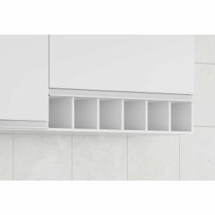 Armario De Cozinha Aereo 100% Mdf Prisma 114 Cm Branco - Mgm