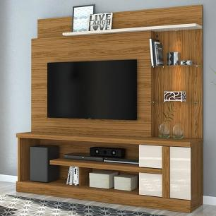 Home Theater Alan - Naturale/Off White - Madetec