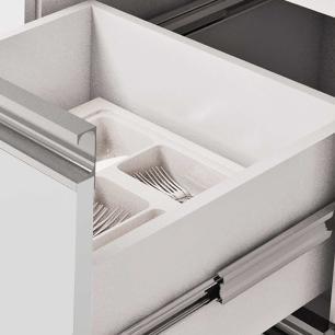 Balcao De Cozinha 100% Mdf Ibiza Para Pia 194 Cm Amendoa/Branco - Mgm