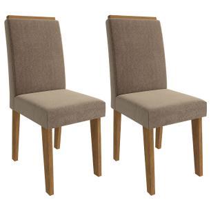 Sala Jantar Sophia 100 Cm x 100 Com 4 Cadeiras Milena C/Moldura Savana/Pluma - Cimol