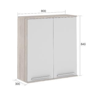 Armário de cozinha Class 2 Portas 80 cm - Branco/Amadeirado - Nesher