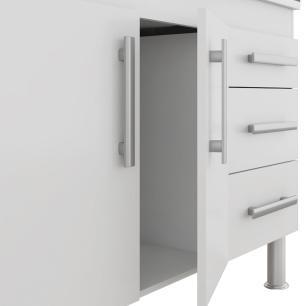 Balcao De Cozinha 100% Mdf Flex 144 Cm Branco/Preto - Mgm