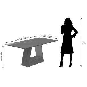 Mesa Alana 180cm x 90cm - Savana/Off White - Cimol