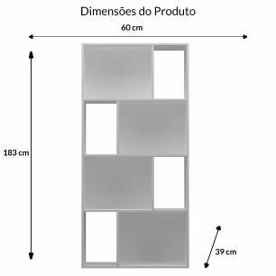 Estante Design Vertical/Horizontal - Branco - Primolar