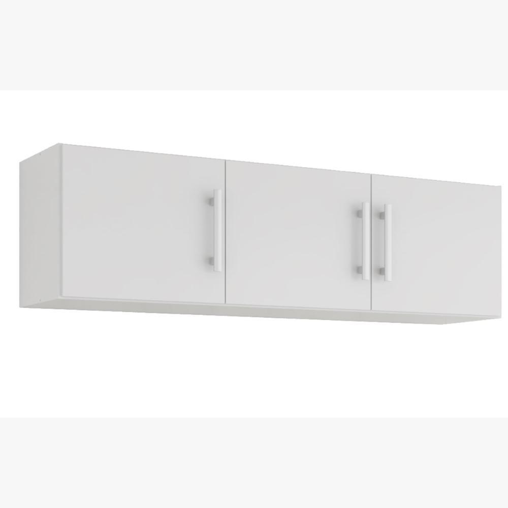 Armario De Cozinha Aereo 100% Mdf Flex 144 Cm Branco - Mgm