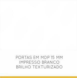 Paneleiro Condessa 2 Portas e 2 Gaveta 60 cm - Nogal/Branco - Nesher