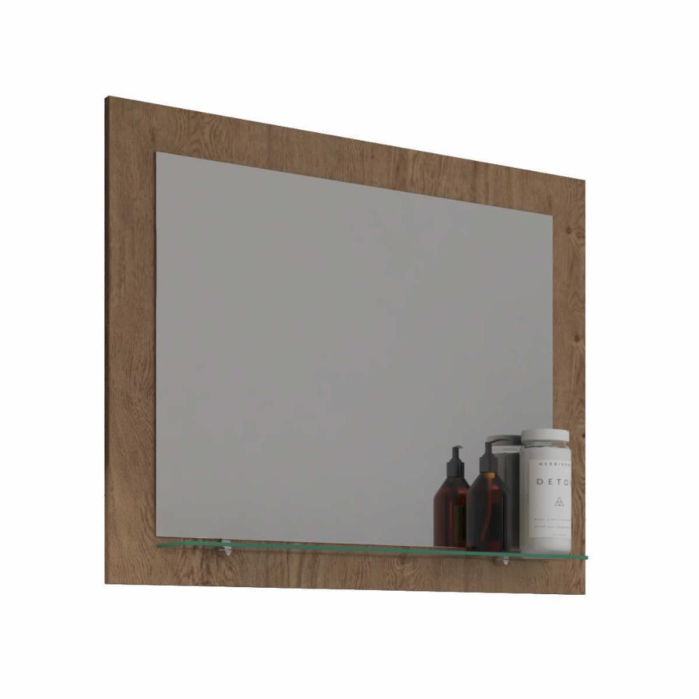 Espelheira para Banheiro 100% MDF  Barcelona 60 Cm - Amendoa - Mgm