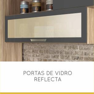 Cozinha Condessa 1 Cedro/Grafite - Nesher
