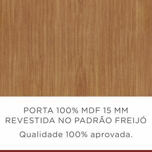 Balcão de Cozinha Camponesa 2 Portas 3 Gavetas 120 cm - Fendi/Freijo - Nesher
