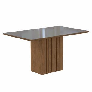 Sala Jantar Ana 130 Cm x 80 Cm Com 4 Cadeiras Milena C/Moldura Savana/Off White/Pluma - Cimol