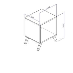 Cubo Retro Sem Porta - Preto - Movelbento