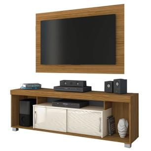 Rack Pierre com Painel - Naturale/Off White - Madetec
