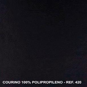 Poltrona Reclinável Stela - Courino Preto 420 - Delare