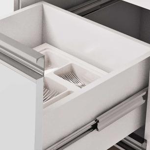 Balcao De Cozinha 100% Mdf Ibiza Para Pia 144 Cm Branco/Carvalho - Mgm