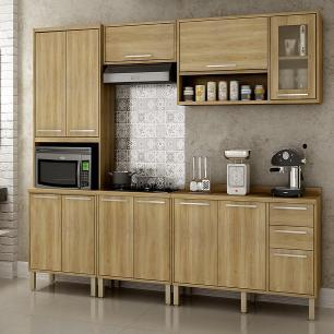 Cozinha 5 Peças Paris 04 - Carvalho - Salleto