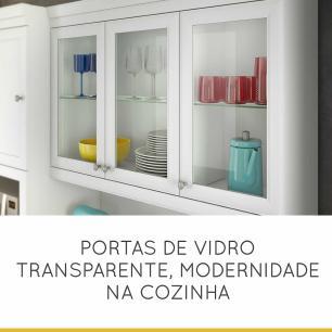 Cozinha Compacta Loft Americano 7 Portas 2 Gaveta - Branco - Nesher