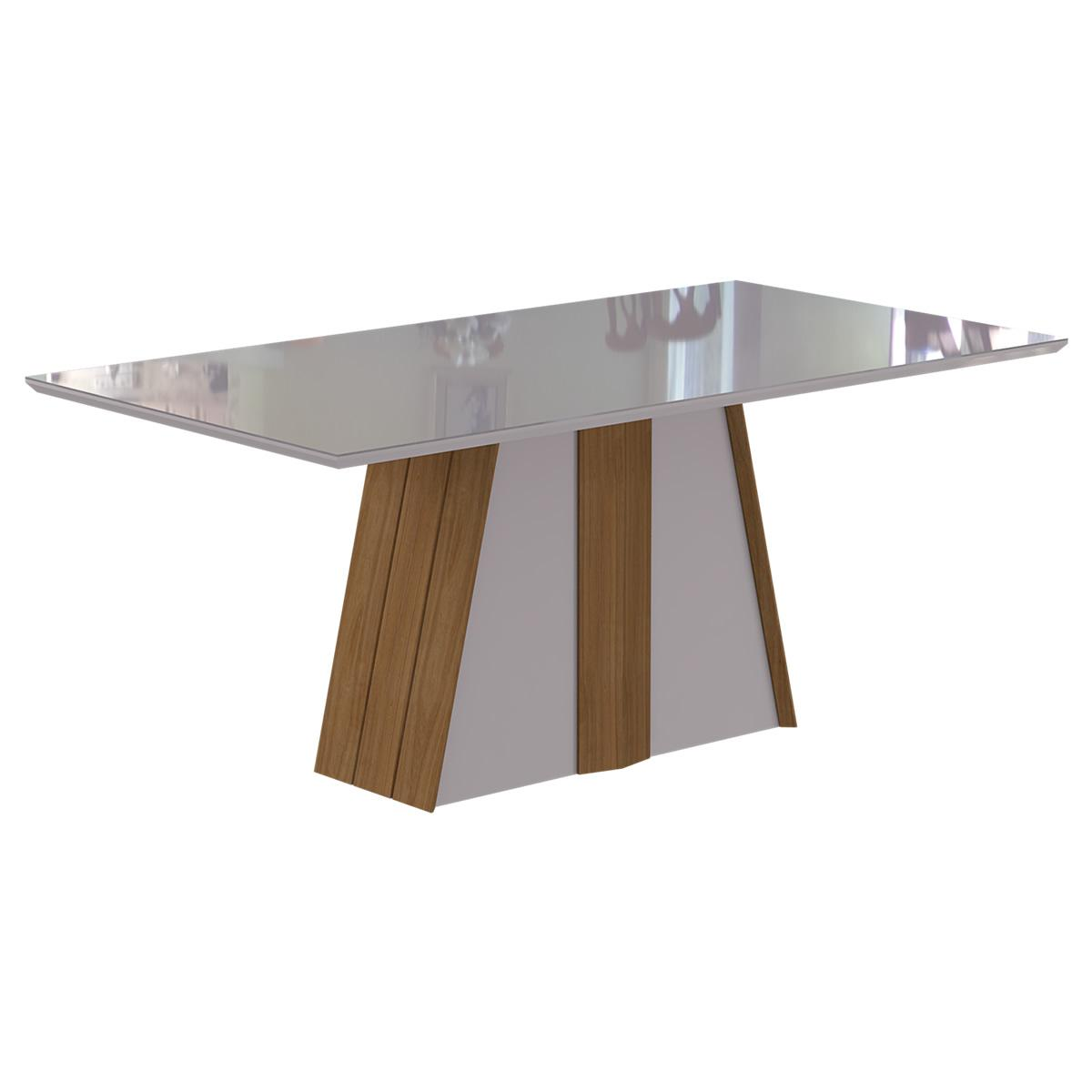 Mesa Daiana 180cm x 90cm - Madeira/Off White - Cimol