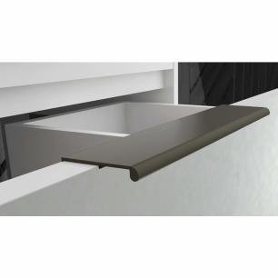 Gabinete De Banheiro 100% Mdf Lavanda 59 Cm Frente Vidro Branco - Mgm