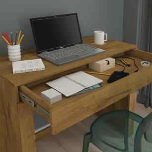 Escrivaninha Mesa para Notebook com 1 Gaveta Cleo Mel - Permobili