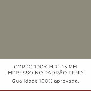 Armario de Cozinha Camponesa com Nicho/Prato 80 cm - Fendi/Freijo - Nesher